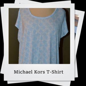 GUC | Michael Kors Light Blue Geometric T-Shirt